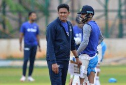Along the Strikes and Attacks, Kumble Starts his Coaching Inning Headstrong