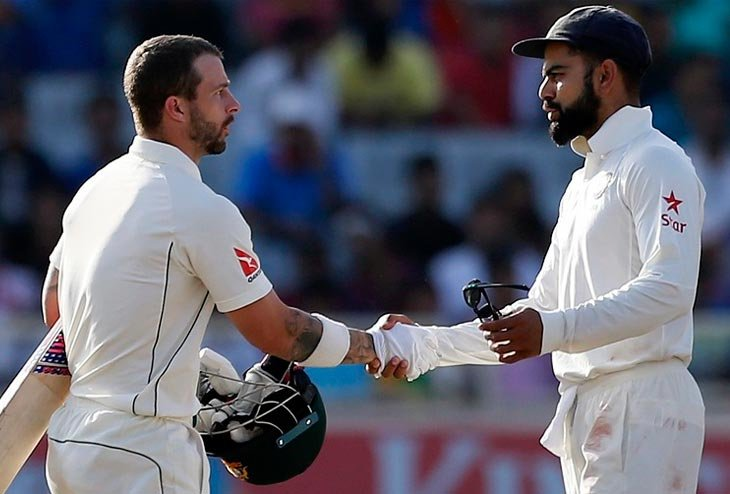 India Australia test series locked at 1-1 after Third match draw