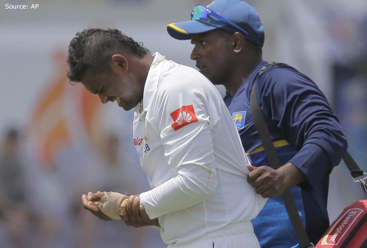 Sri Lanka striker Asela Gunaratne rested from Series with Fractured Thumb